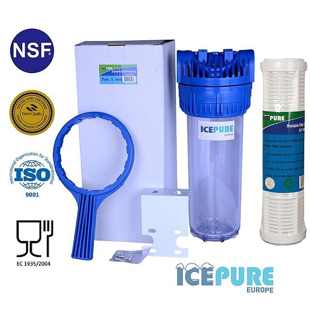 10inch Filterhuisset met Wasbare Filter van Icepure ICP-YDWF10-100